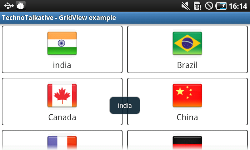 Android - GridView example