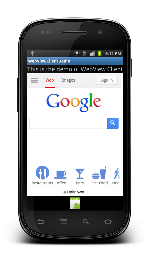 android webviewclient demo