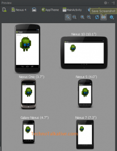 save screenshot - Android Studio