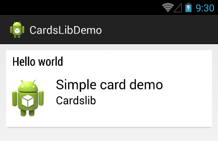 android simple card demo