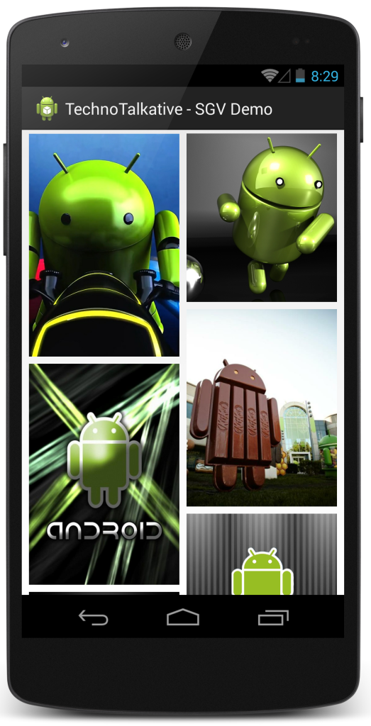 technotalkative staggered gridview in android
