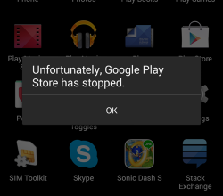 google play store crash