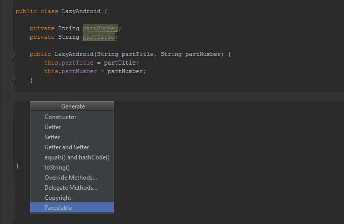 parcelable generator - Android studio plugin