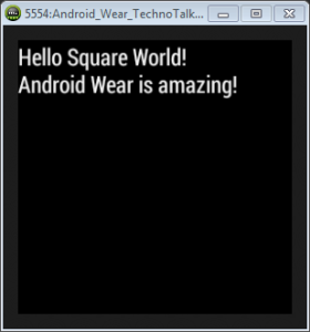 Android wear _ hello world demo
