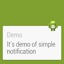 Android wear - simple notifications