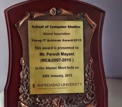 Young IT Achiever Award _ Paresh Mayani 1
