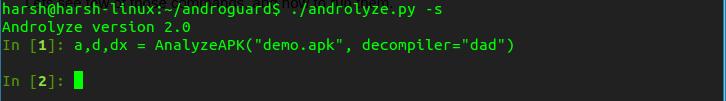 androlyze androguard - analyze apk 2