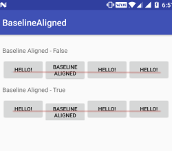 android baselineAligned false