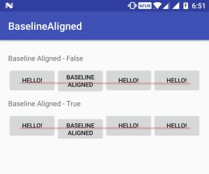 android baselineAligned false