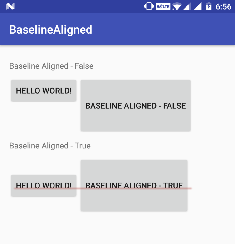 android baselineAligned true